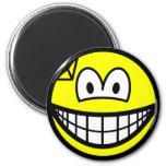 Dented smile   fridge_magents_magnet