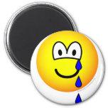 Crying emoticon   fridge_magents_magnet
