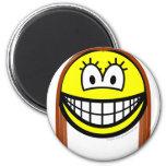 Brunette smile   fridge_magents_magnet