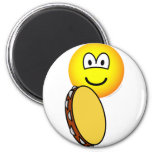 Tambourine playing emoticon   fridge_magents_magnet