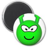 Green alien emoticon   fridge_magents_magnet