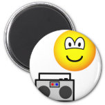 Boom box radio emoticon   fridge_magents_magnet