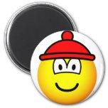 Bobble hat emoticon   fridge_magents_magnet