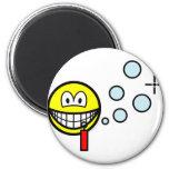 Bubble blowing smile   fridge_magents_magnet