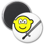 Sword fighter buddy icon   fridge_magents_magnet