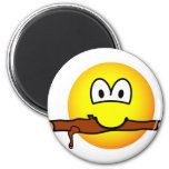 Fetching stick emoticon Dog  fridge_magents_magnet