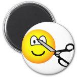 Cut emoticon scissors  fridge_magents_magnet