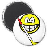Ice hockey smile   fridge_magents_magnet