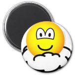 Cloud # nine emoticon   fridge_magents_magnet