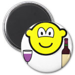Wine drinking buddy icon   fridge_magents_magnet