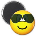 Aviators emoticon Sunglasses   fridge_magents_magnet