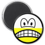 Half empty smile Pessimist  fridge_magents_magnet