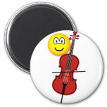 Cello playing emoticon   fridge_magents_magnet