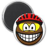 Biker smile muddy  fridge_magents_magnet