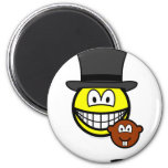 Groundhog day smile shadow  fridge_magents_magnet