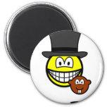 Groundhog day smile shadow  fridge_magents_magnet