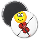 Violin playing emoticon   fridge_magents_magnet