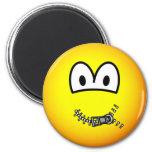 Zipped up emoticon   fridge_magents_magnet