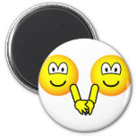 Holding hands emoticons   fridge_magents_magnet