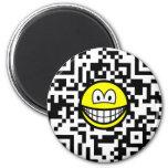 Qr Code smile 2D barcode  fridge_magents_magnet