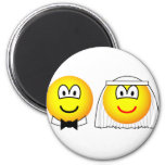 Married emoticon bride and groom  fridge_magents_magnet
