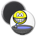 Water fountain smile drinking  fridge_magents_magnet
