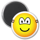 Ear plugs emoticon   fridge_magents_magnet