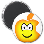 Apple logo emoticon   fridge_magents_magnet
