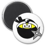 Ninja smile Black  fridge_magents_magnet