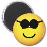 Sunglasses emoticon Round  fridge_magents_magnet