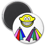 Shopping smile Bags  fridge_magents_magnet