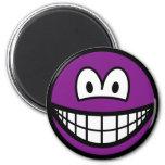 Colored smile violet  fridge_magents_magnet