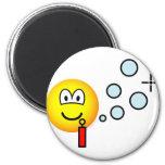 Bubble blowing emoticon   fridge_magents_magnet