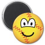 Baseball emoticon   fridge_magents_magnet
