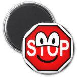 Stop sign emoticon   fridge_magents_magnet