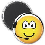 Headset emoticon   fridge_magents_magnet