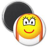 Redhead emoticon   fridge_magents_magnet