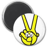 Peace sign buddy icon   fridge_magents_magnet