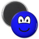 Colored emoticon blue  fridge_magents_magnet