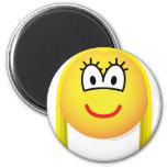 Blonde emoticon   fridge_magents_magnet
