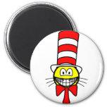 Cat in the hat smile   fridge_magents_magnet
