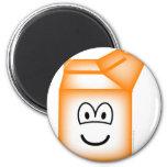 Milk carton emoticon   fridge_magents_magnet
