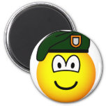 Green beret emoticon   fridge_magents_magnet