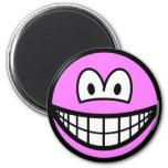 Colored smile pink  fridge_magents_magnet