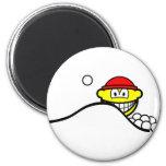 Snowball fight smile   fridge_magents_magnet