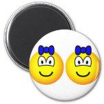Identical twin emoticon Boys  fridge_magents_magnet