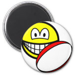 Rugby playing smile   fridge_magents_magnet