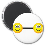 Bar bell emoticon   fridge_magents_magnet