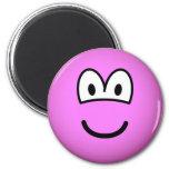 Colored emoticon pink  fridge_magents_magnet