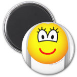 Gray haired emoticon   fridge_magents_magnet